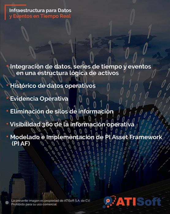 infraestructura para datos y eventos